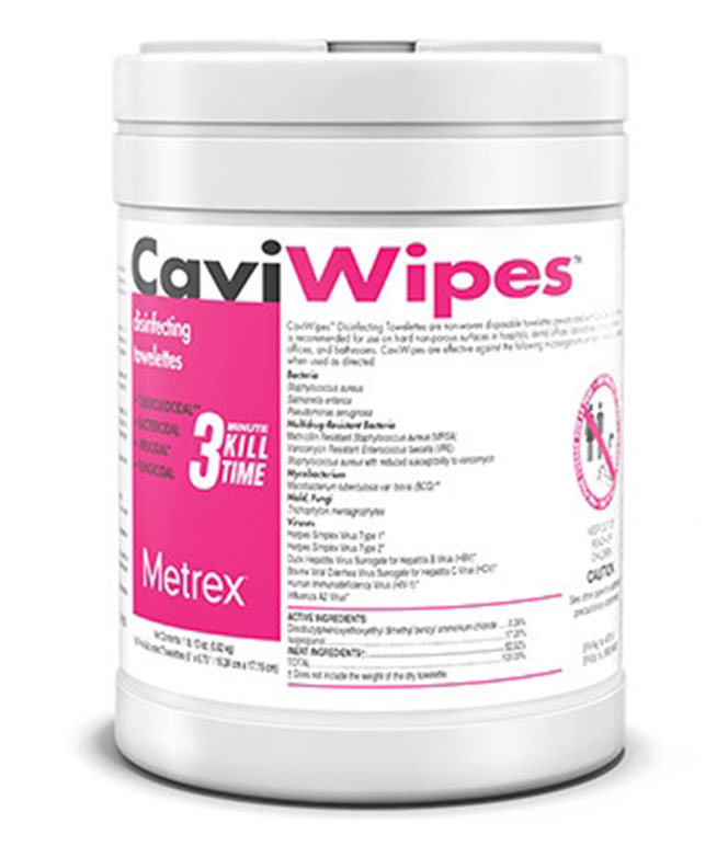 CaviWipes Cleaner Disinfectant Wipe